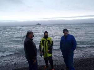 Bjørn Ove, Kåre og Kaare Martin venter på det som kommer (Foto Espen Halvorsen)