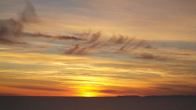 Solnedgang ved Halvmåneøya