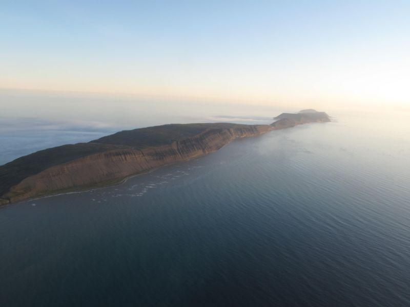 Blåfjell sett fra lufta med 330 skv/Sea King vestfra.