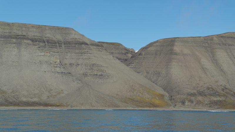 Hugoskaret sett fra sjøsiden.