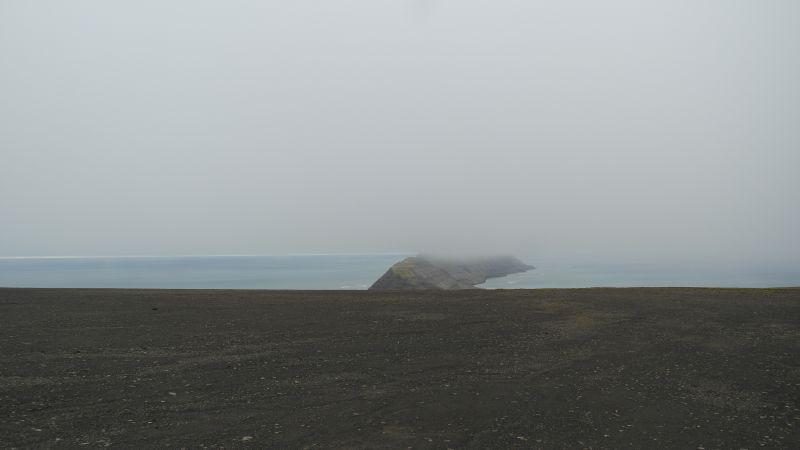 Utsikt fra Johan Hjortfjellet mot Småhumpen. Svært lite vegetasjon der.