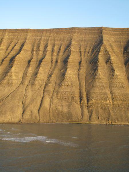 Vestveggen av Kollerfjellet sett fra Sea King fra 330 skv.