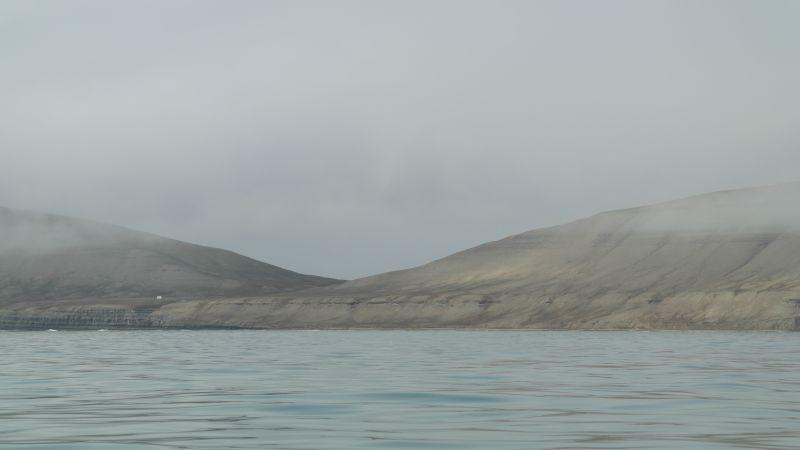 Thorkilsenskaret sett fra sjøsiden nordøstlig retning.