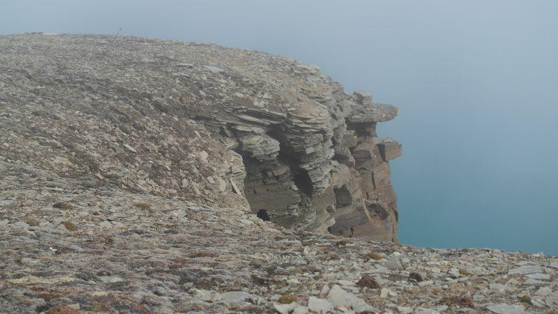 Steinformasjonen som stikker ut oppå platået.