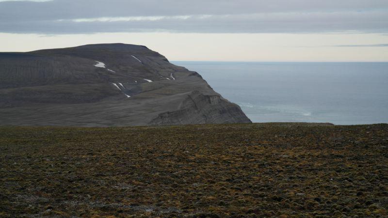 Iversenfjellets høyeste topp i bakgrunnen    <div title=