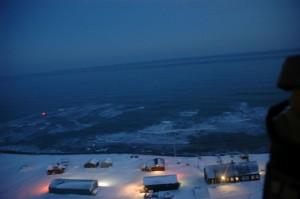Geir Inge tok bilder fra masta og ned mot stasjonen. Høyt..