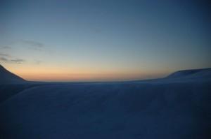 Geir Inge ser mot nord fra mastetoppen