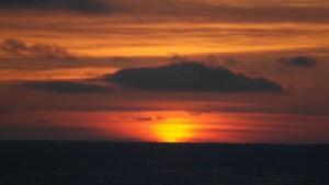 Først glimt av sola 10. februar 2015 kl 11.30. Foto: Bjørn Ove Finseth