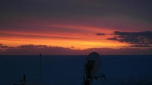 Sola er under horisonten. Foto: Bjørn Ove Finseth