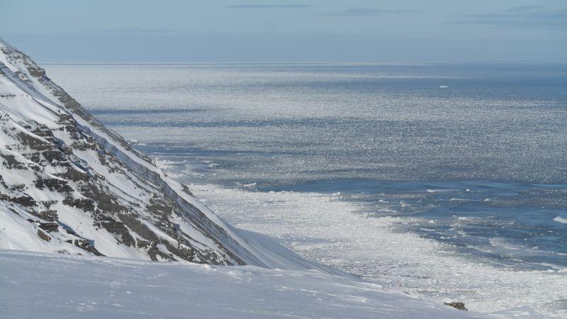 Isbeltet utenfor Knulterodden og nordover.
