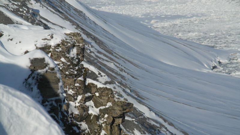 Bergformasjoner over Knulterodden.
