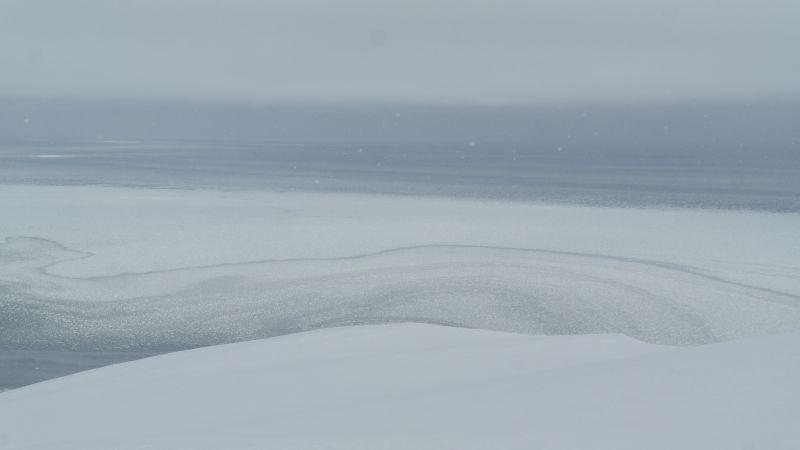 Isen er i bevegelse
