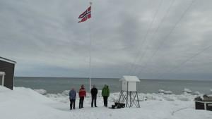 Fra venstre: Bjørn ove, Ragnar, Tom Erik og Haftor.