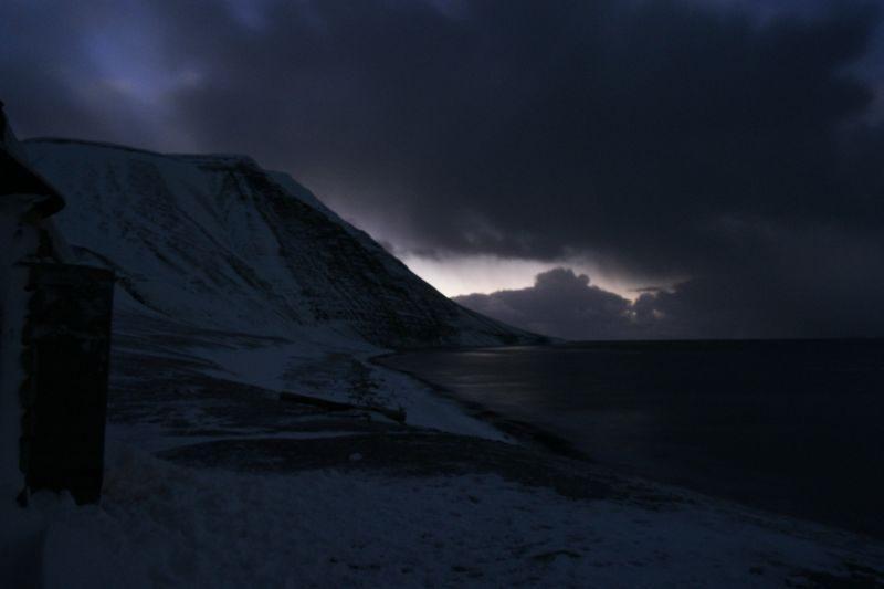 Werenskioldfjellet sett mot sør fra Johshytta på Bjørnstranda.