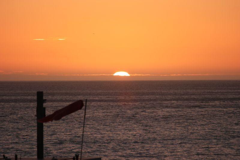 Sola på sitt høyeste denne dagen. Bare synd at skyene i horisonten skjermet for resten av solskiva.